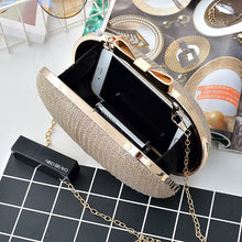 Load image into Gallery viewer, Golden Evening Clutch Bag Women Bags Wedding Shiny Handbags Bridal Metal Bow Clutches Bag Chain Shoulder Bag