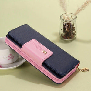 Wallets Brand PU Leather Long Leather Women Clutch Bag Hasp Zipper Wallet Card Holders Clutch Money Bag Carteira