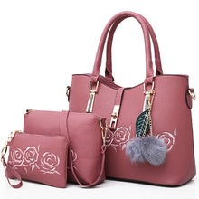 Load image into Gallery viewer, 3pcs Leather Bags Handbags Women Famous Brand Shoulder Bag Female Casual Tote Women Messenger Bag Set Bolsas