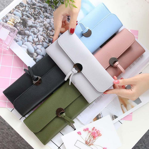 Design PU Leather Wallets Women Luxury Brand Purses Woman Wallet Long Hasp Female Purse Card Holder Clutch Wallet