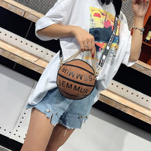 Load image into Gallery viewer, Luxury Handbags Women Bags Designer 2019 Famous Brand Letter Chain Basketball Bag Purse Female Shoulder Messenger Clutch Bag Sac
