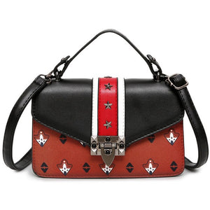 Rivet Decoration Louis Messenger Bag Retro Lock Buckle Flap Bag Designer Delicate Leather