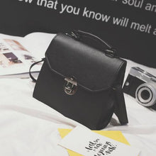 Load image into Gallery viewer, PU Leather Women Handbag Vintage Women Messenger Bag Fashion Lock Female Shoulder Bag Flap Women Bag Sac A Main