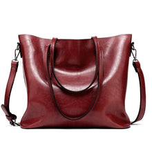 Load image into Gallery viewer, Women Leather Handbags Lady Large Tote Bag Female Pu Shoulder Bags Bolsas Femininas Sac A Main Brown Black Red