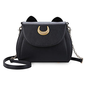 Cat Shape Chain Shoulder Bag PU Leather  Messenger Crossbody