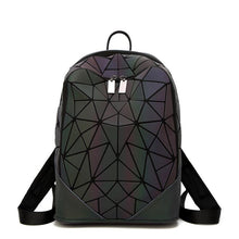 Load image into Gallery viewer, Luminous Irregular Triangle Sequin Backpack for Women Fashionable Rucksack Female Backbag Korean