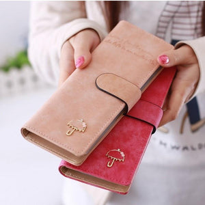 55card women female leather wallet business id credit card holder case passport cover wallets card holder carteira feminina