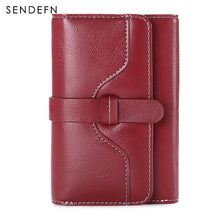 Load image into Gallery viewer, Sendefn  Wallet-female Short Women's Hasp Women Purse Split Leather With Coin Pocket Mini