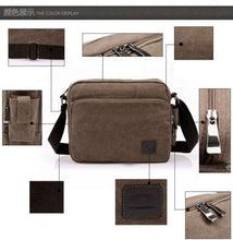 Load image into Gallery viewer, Men Canvas Bag Men's Crossbody Bag  Men Messenger Bags