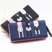 Load image into Gallery viewer, Envelope Women Wallet Cat Cartoon Wallet Long Creative Female Card Holder PU Wallet Coin Purses Girls