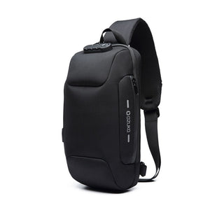 OZUKO Multifunction Crossbody Bag for Men Anti-theft Shoulder Messenger Bags Male Waterproof Short Trip Chest Bag Pack