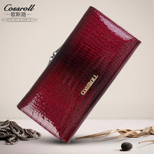 Load image into Gallery viewer, Brand Womens Wallets and Purses Female Long European and American Style Genuine Leather Wallet Coin Purse Ladies Designer Wallet