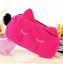 Load image into Gallery viewer, Portable Cartoon Cat Coin Storage Case Travel Makeup Flannel Pouch Cosmetic Bag Cases For Women Girls