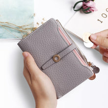 Load image into Gallery viewer, Latest Lovely Leather Short Women Wallet Fashion Girls Change Clasp Purse Money Coin Card Holders wallets Carteras