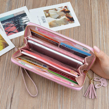Load image into Gallery viewer, Luxury Brand Leather Wallets Women Long Zipper Coin Purses Tassel Design Clutch Wallets Female Money Bag Credit Card Holder