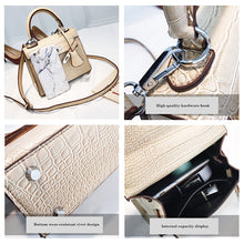 Load image into Gallery viewer, Women's Bag Alligator Bags Fashion lock Luxury Handbags High Quality PU leather Designer Shoulder Female Messenger