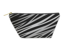 Load image into Gallery viewer, Accessory Pouch, Silver Zebra Print