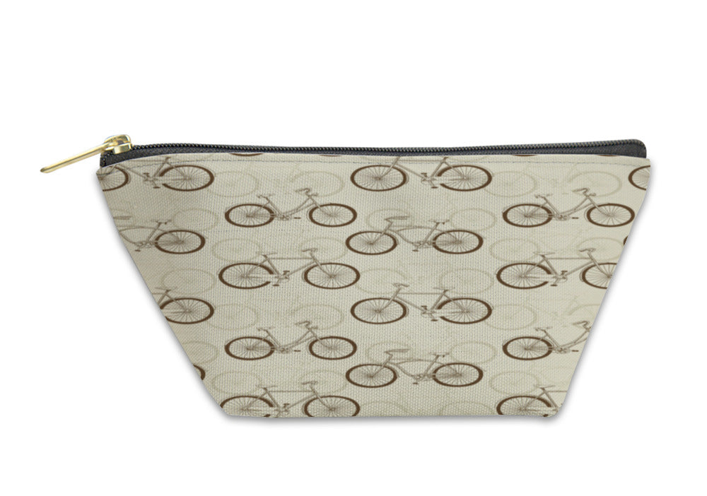 Accessory Pouch, Pattern With Vitage Bicycles