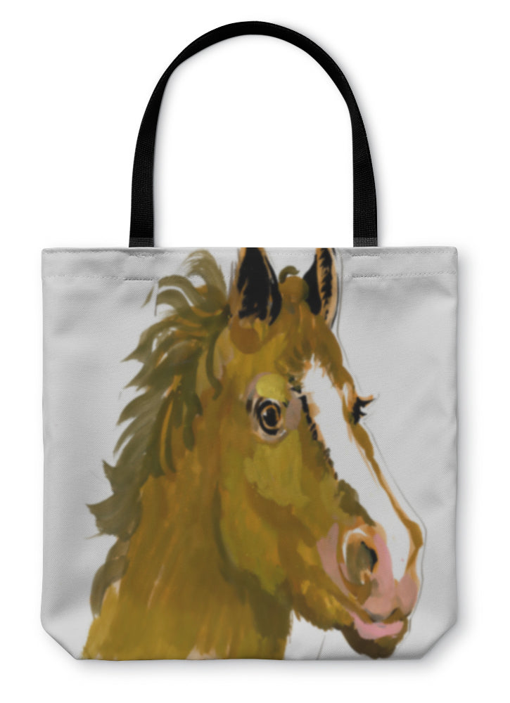 Tote Bag, Horse Head Watercolor Painting
