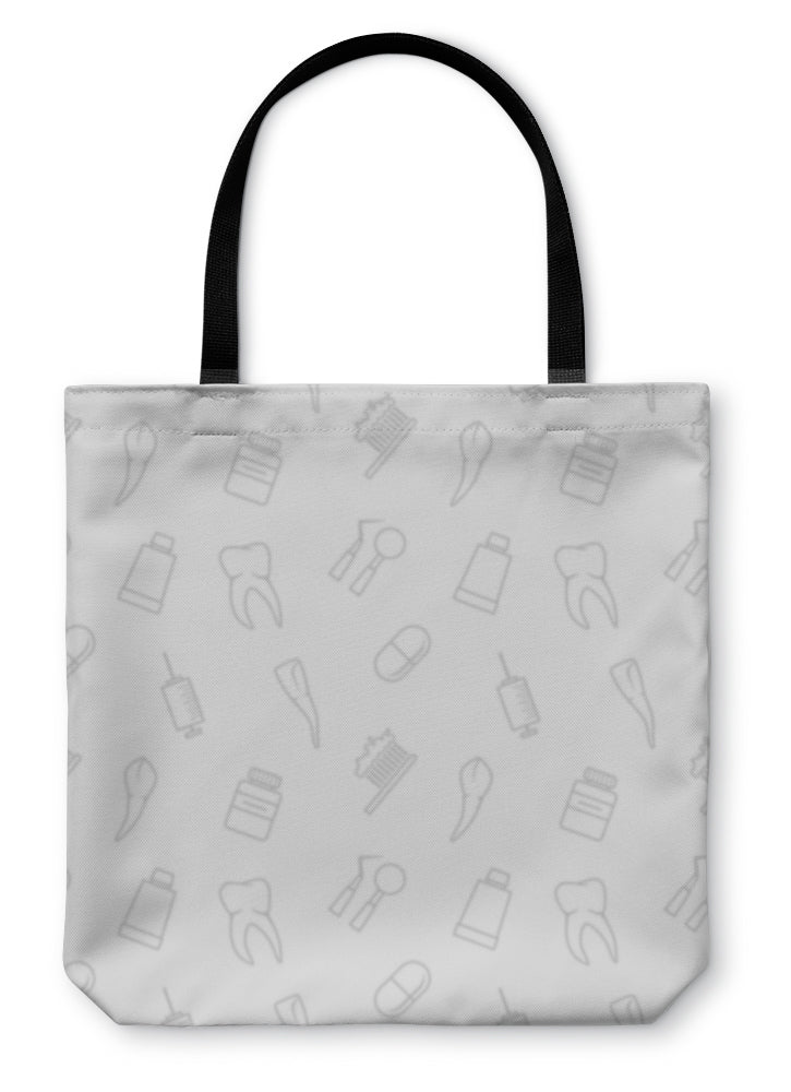 Tote Bag, Teeth Pattern