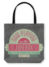 Load image into Gallery viewer, Tote Bag, 1950s Jukebox Style Logo Design