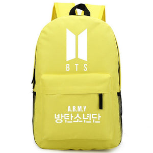 BTS Bangtan Boy Logo Door ARMY Letter Men Shoulder Backpack For Women Schoolbag Fans Collection Travel Laptop