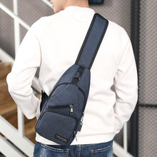 Load image into Gallery viewer, Male Shoulder Bags USB Charging Crossbody Bags Men Anti Theft Chest Bag School Summer Short Trip Messengers Bag