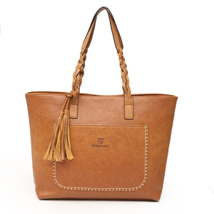 Women Messenger Bags With Tassel Large Capacity Women Bags Shoulder Tote Bags Famous Designers PU Leather Handbags