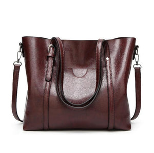 Women bag Oil wax Women's Leather Handbags Luxury Lady Hand Bags With Purse Pocket Women messenger bag