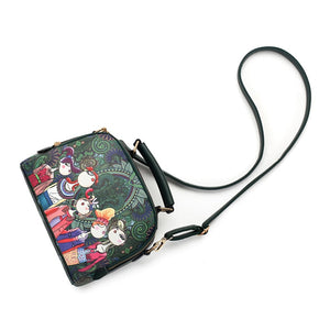PU leather ladies ladies green cartoon handbag shoulder bag female handbag