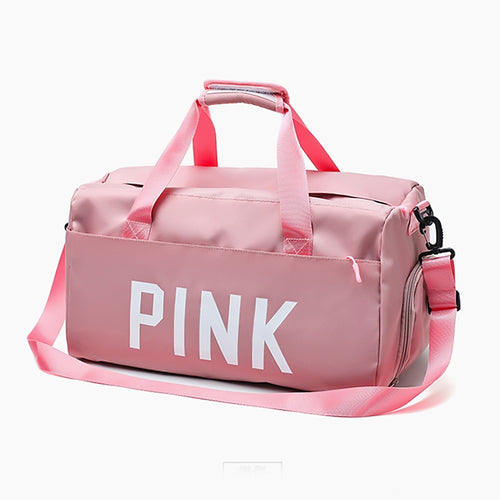 Nylon Synthetic Zipper Travel Bag Solid Color Practice Black / Pink / Unisex / Fall & Winter