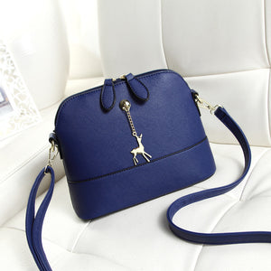 Women's Zipper Shoulder Messenger Bag PU(Polyurethane) Blue / White / Black