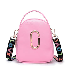 Load image into Gallery viewer, Women's Buttons PU Shoulder Messenger Bag Solid Color Black / Blushing Pink / Red / Fall & Winter