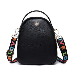 Women's Buttons PU Shoulder Messenger Bag Solid Color Black / Blushing Pink / Red / Fall & Winter