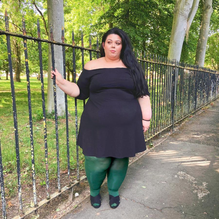 Tights - 80 Denier Tights - Hit The Bottle Green