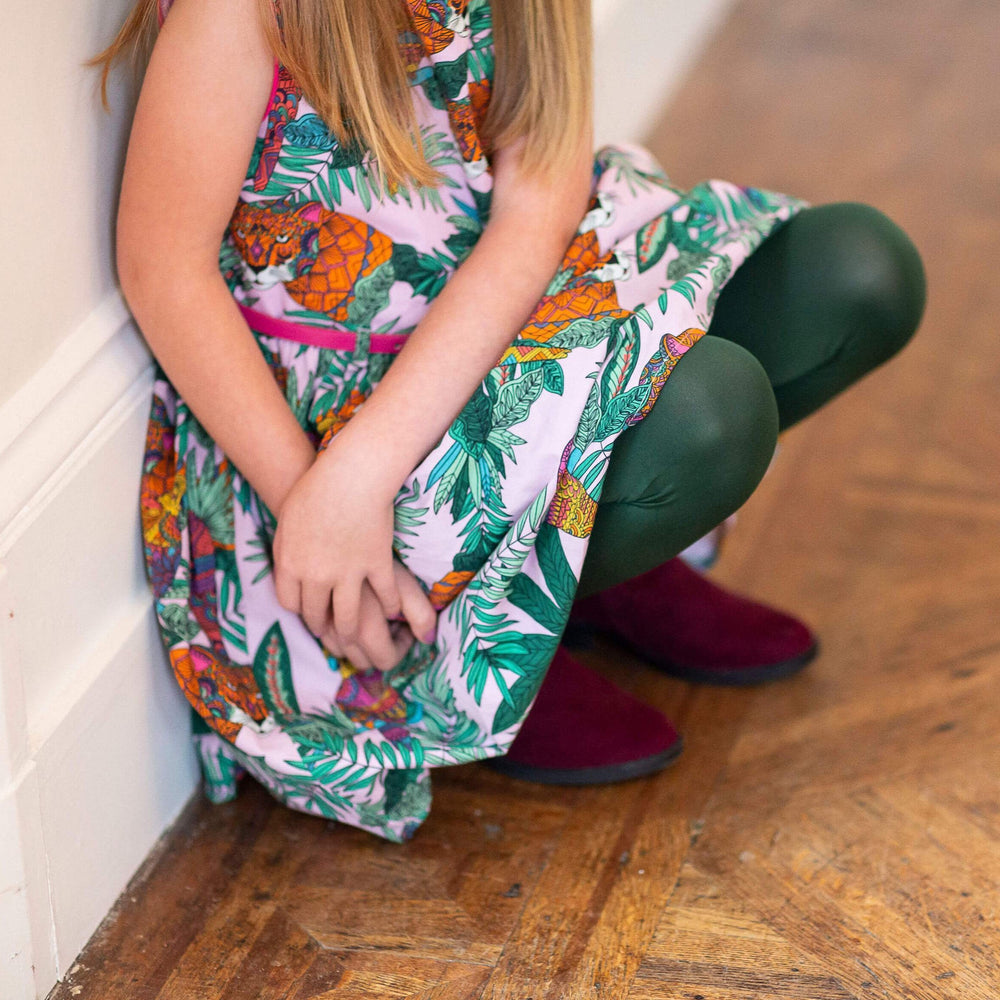 Kids Tights - Hit the Bottle Green
