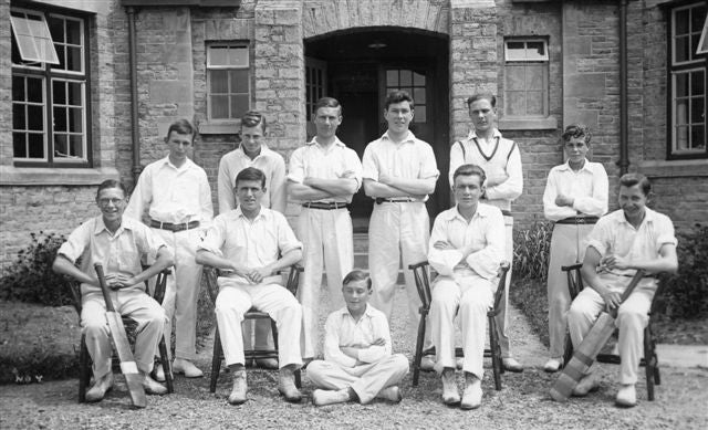 Young boys in classic cricket whites