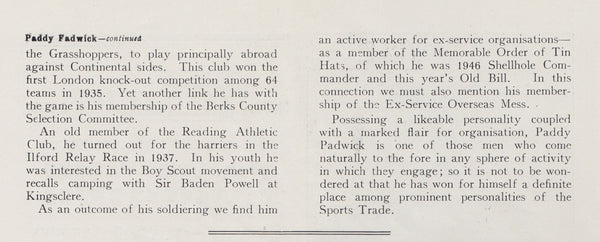 Article on Paddy Padwick