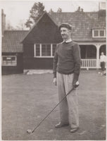 Paddy Padwick playing golf in the 1950s