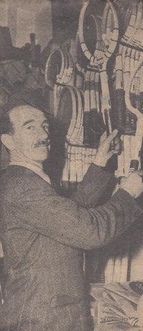Paddy Padwick in the N.E.Blake & Co. shop in Minster Street, Reading