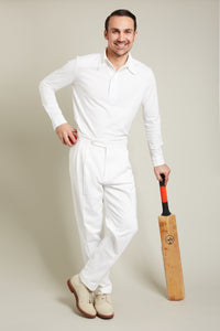 The N.E. Blake & Co. Len Hutton Cricket Trousers and N.E. Blake & Co. Peter May Cricket Shirt
