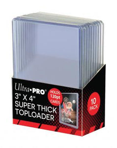 "3"" X 4"" Super Thick 120PT Toploader 10ct"