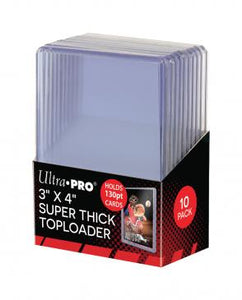 "3"" X 4"" Super Thick 130PT Toploader 10ct"