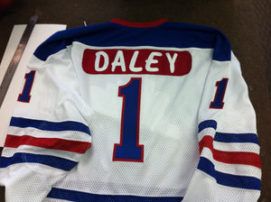 Joe Daley 1972-73 WHA Winnipeg Jets Autographed Replica Jersey