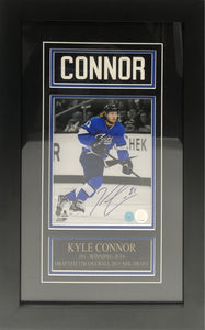 Kyle Connor Autographed Winnipeg Jets Aviator 8x10 Custom Framed