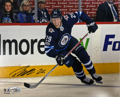 Patrik Laine Autographed Winnipeg Jets 8x10 Photo