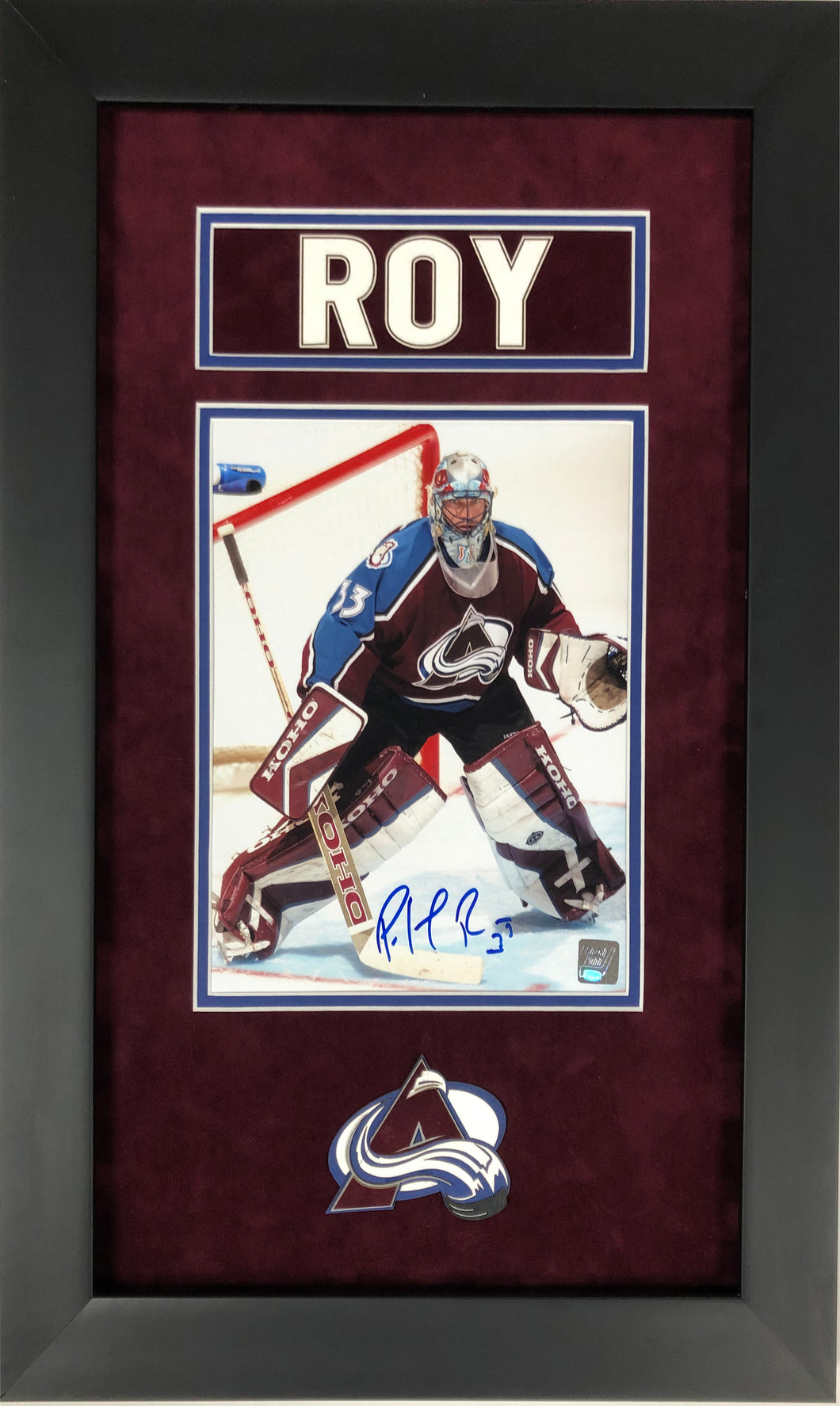 Patrick Roy Colorado Avalanche Autographed 8x10 Custom Framed
