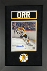 Bobby Orr Boston Bruins Autographed 8x10 Custom Framed