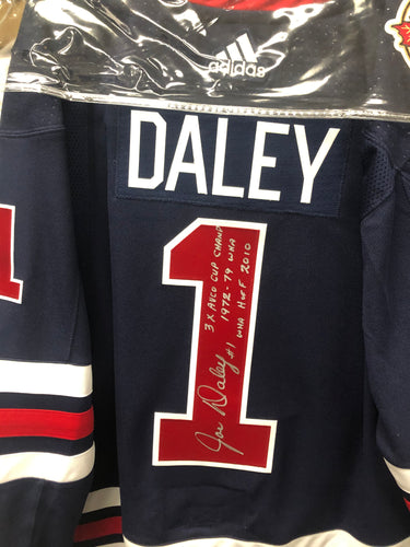 Joe Daley Winnipeg Jets Autographed Heritage Jersey