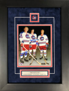 "WHA Winnipeg Jets ""The Hotline"" Autographed 8x10 Framed"